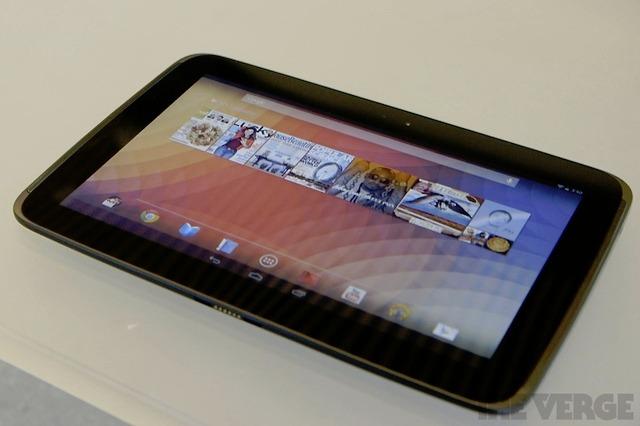 Google's nieuwe high-end Nexus 10-tablet van 399 dollar mogelijk niet naar Nederland