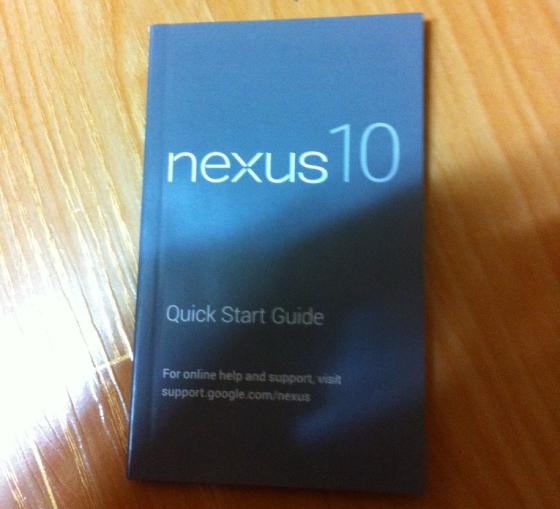 'Handleiding Google Nexus 10 gelekt'