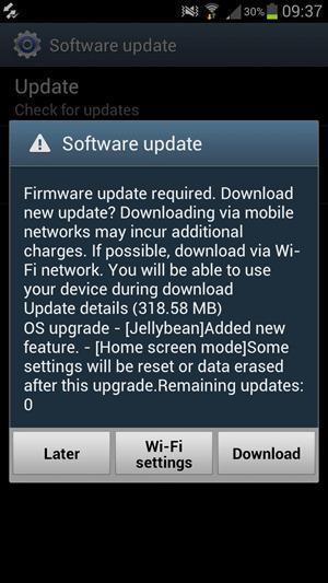 Nieuwe Android 4.1 Jelly Bean-update voor Samsung Galaxy S III rolt uit in Europa