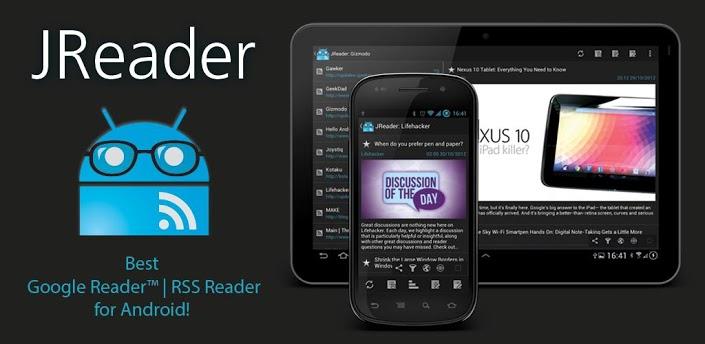 JReader: uitgebreide en gratis Google Reader RSS-lezer voor smartphones en tablets