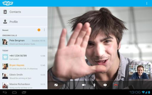 Android-app Skype krijgt langverwachte tablet-interface