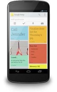 Google Keep officieel aangekondigd voor Android en web