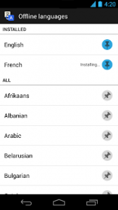 google-vertalen met translate android app