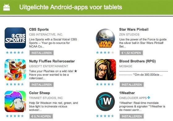tablet apps android