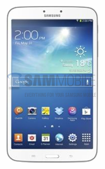 Samsung Galaxy Tab 3 8.0: foto en specificaties gelekt