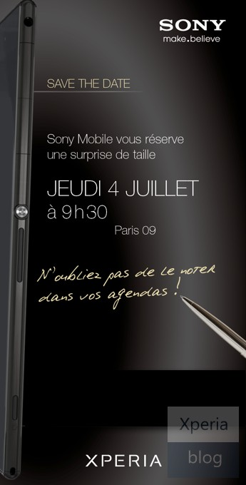 Sony Mobile hint naar Xperia Z Ultra in uitnodiging