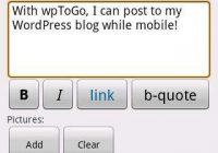 Bloggen op je Android met wpToGo