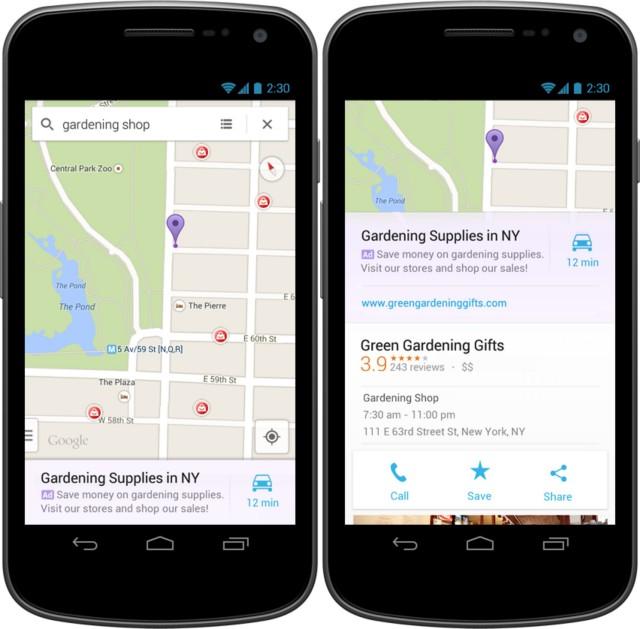 Google Maps advertenties worden binnenkort werkelijkheid