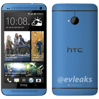 blauwe htc one