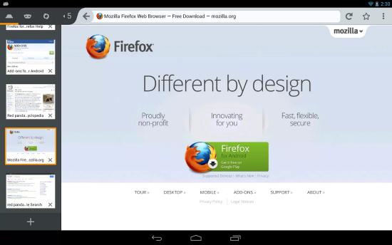 firefox beta 1
