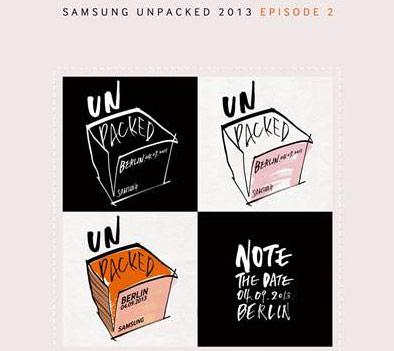 Galaxy Note 3 aankondiging van Samsung op 4 september