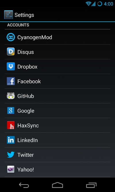 cyanogenmod accounts
