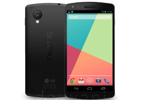 Nexus 5 specs bevestigd: 5 inch full hd, Snapdragon 800, 16GB en Android 4.4