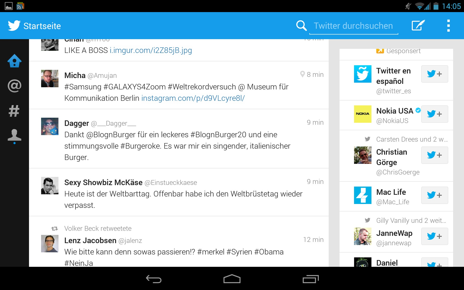 Download Twitter Android tablet-app met nieuwe tablet-interface
