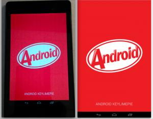 'Android 4.4 KitKat screenshots tonen besturingssysteem op Nexus 7'