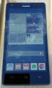 Ascend G700 scherm