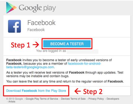 Aanmelden voor Facebook-app testversie nu mogelijk
