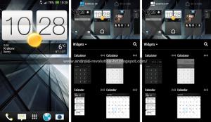 'HTC Sense 5.5 screenshots tonen optie om Blinkfeed uit te schakelen'