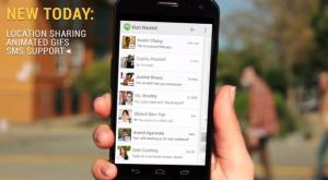 Hangouts app voor Android integreert sms en ondersteunt GIFs – update
