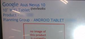Nexus 10 release