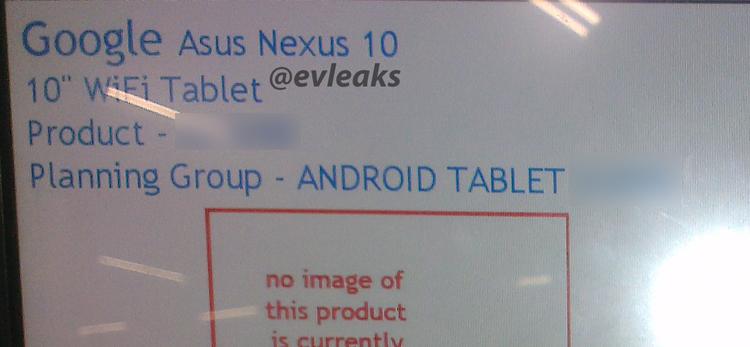 'Nexus 10 release volgende maand nogmaals bevestigd'