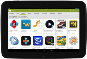 Tablet-apps Google Play