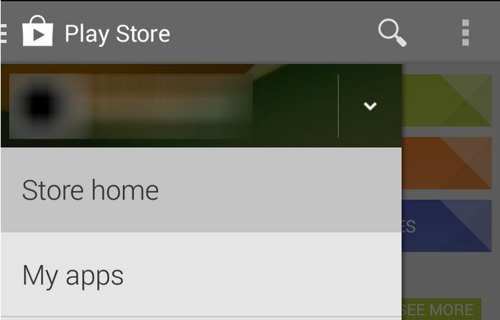Google Play 4.4 gelekt, toont nieuwe navigatie
