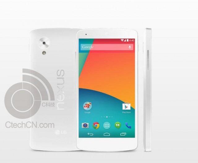 'Witte Nexus 5 gelekt, persfoto laat toestel in volle glorie zien'