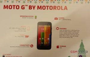 Moto G foto