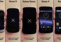 Video: alle Nexus smartphones op een rijtje