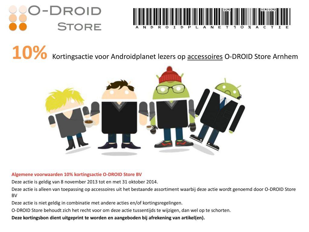 O-Droid kortingsbon AndroidPlanet