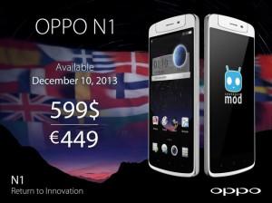 Oppo N1 kopen kan vanaf 10 december voor 449 euro