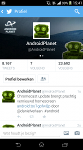 Twitter Android-update
