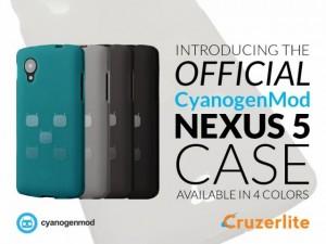 Officiële Nexus 5 CyanogenMod case beschikbaar