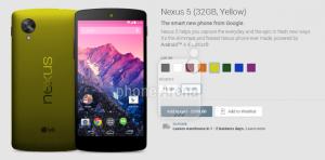 Video toont Google Play met mogelijke nieuwe Nexus 5 kleuren – update