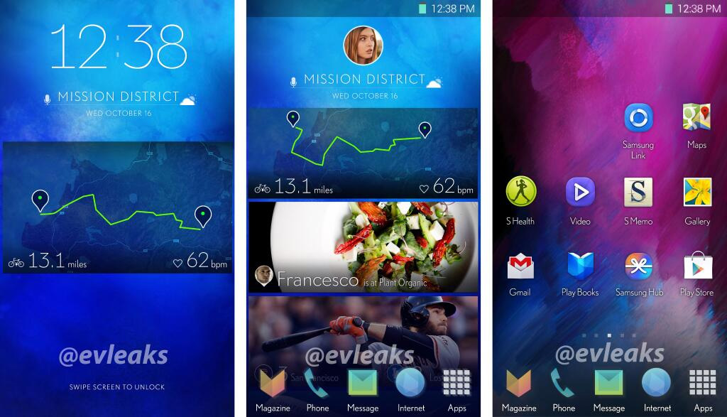 Samsung Android-interface