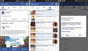 nieuwe Facebook Android app