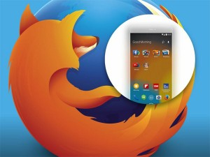 Screenshots tonen Firefox launcher voor Android