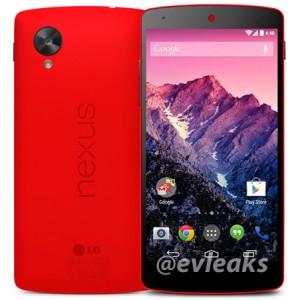 Nexus 5 persfoto met rood toestel uitgelekt