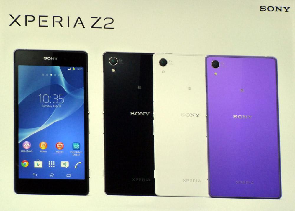 Sony presenteert Xperia Z2, Xperia Z2 Tablet en Xperia M2