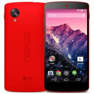 Knalrode Nexus 5 eind februari in de winkels