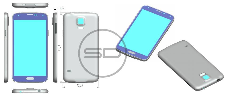 Uitgelekte officiële Galaxy S5 render laat smartphone zien