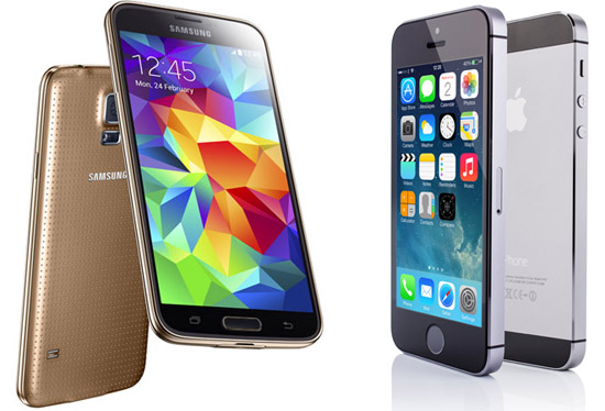 Galaxy S5 VS iPhone 5S 2