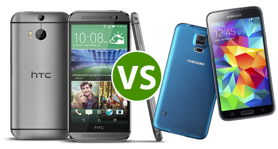 HTC One VS Galaxy S5