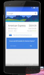 Google Now rekeningen