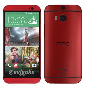 Foto: rode HTC One (M8) duikt op