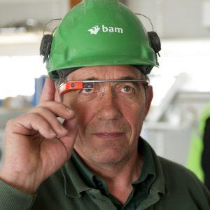 Google Glass op de bouwplaats