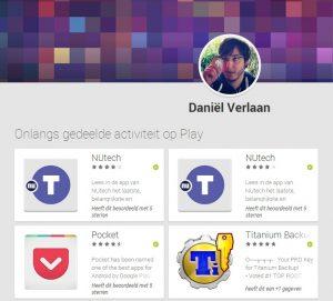 Google Play activiteit