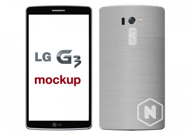 Conceptfoto LG G3 toont grote smartphone met dunne schermrand