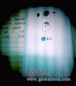LG G3 knoppen